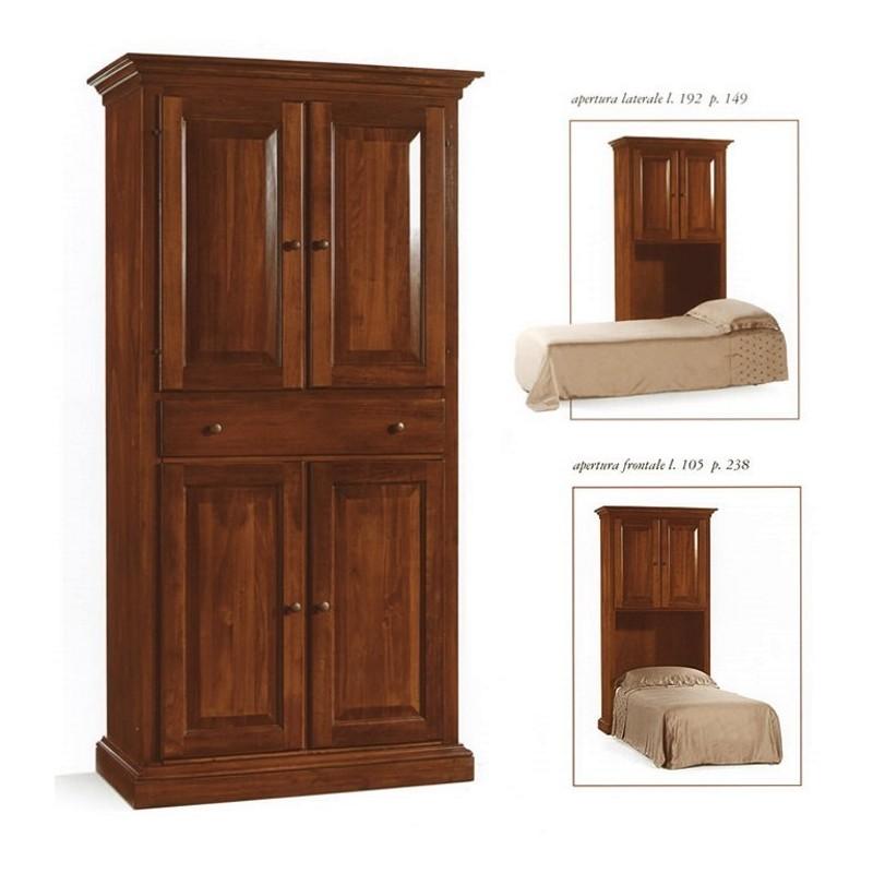 Mobile letto singolo in legno massello art im2131 - Mobile letto singolo ...