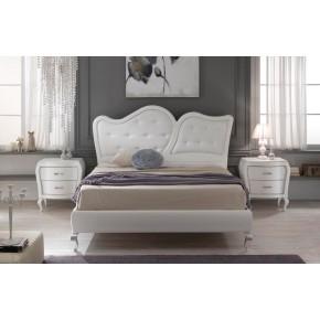 Camera da letto in frassino laccata bianca art. opera