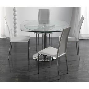 Tavolo Quadrato Allungabile Cristallo.Tavolo Quadrato Allungabile Art 656