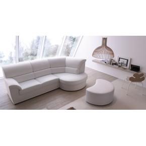 divano slim angolo con pouff