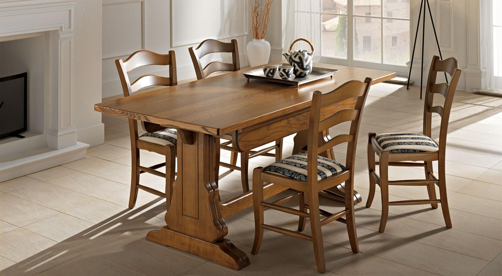 Tavolo fratino da 180x90 cm in legno allungabile a 4 metri newtom