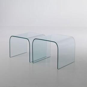 Tavolino memphis in vetro