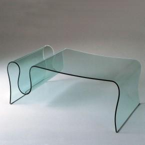 Tavolino wave in vetro