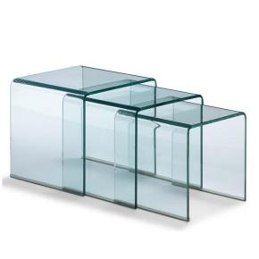Tavolino nest in vetro