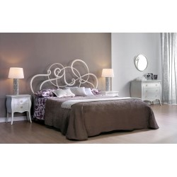 Letto in ferro mod. jazz giroletto