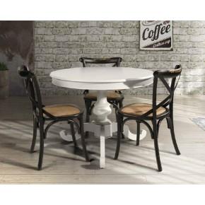 Tavolo tondo allungabile laccato bianco art 145368