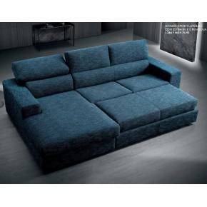 divano 3 posti estraibile con penisola art. giove