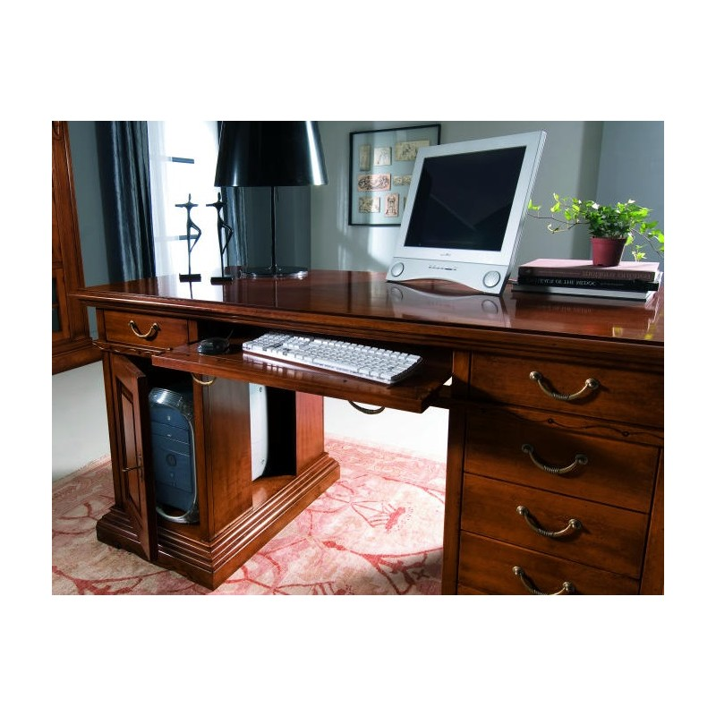 Scrivania porta pc in legno art im405 - Scrivania porta pc ...
