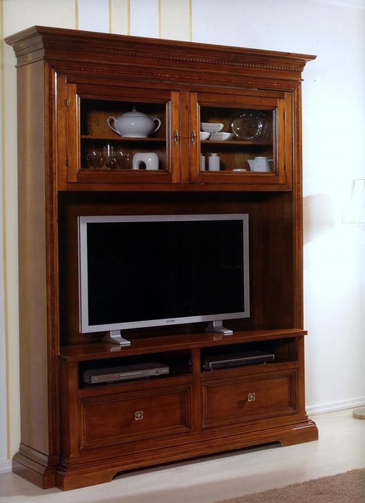 parete porta tv in legno art. 862im