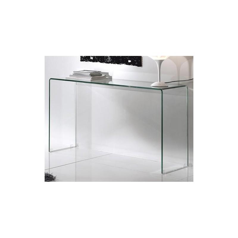Consolle in vetro curvato art brid for Consolle in vetro