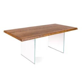 Tavolo base vetro piano in rovere art. OM219